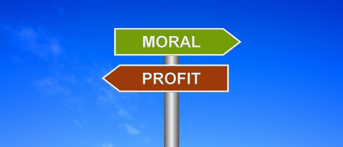 Signpost showing directions - Moral or profit